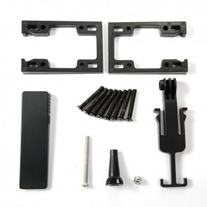 Skateboards DV Mount, Sport Camera Risers for GoPro Hero with Secret Stash Drawer - Black