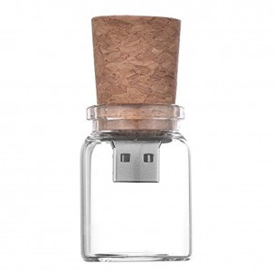 8GB Glass Water Bottle USB Flash Drive