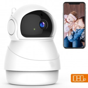 Wireless Camera 1080P IP WiFi Home Security surveillance Camera 2-Way Audio Motion Detection Remote Control with Night Vision Pan/Tilt/zoom