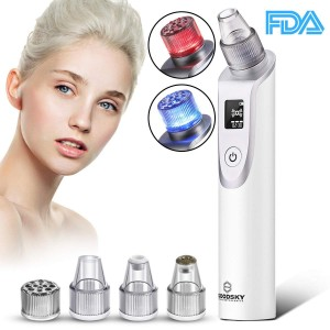 Blackhead Remover, Pore cleanser Vacuum Blackhead removal Suction Machine, Rechargeable Pore Cleaner Device for Facial Skin Treatment with Multi-Functional Replaceable 5 Probes with LED Screen