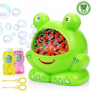 Bubbles Hurricane Machine,Toys for Kids Boys Girls Age of 4,5,6,7,8-16 Durable Bubble Maker 500 Bubbles per Minute for Outdoor and Indoor Use with Bubble Solution (2*120ml)