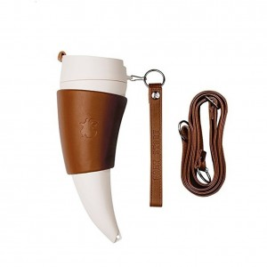 Stainless Steel Thermos Mug Coffee Cup Travel Creative Goat Horns Cup Vacuum Thermos Flask Couple Traveling Cup Mug