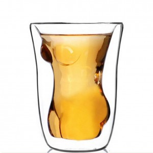 Creative Naked Nude Girl Glass Cup Crystal Clear Cocktail Beer Wine Cup