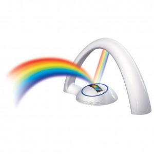 Magical LED Lucky Rainbow Projector Room Night Light Color Lamp Magic Romantic Kids Gift