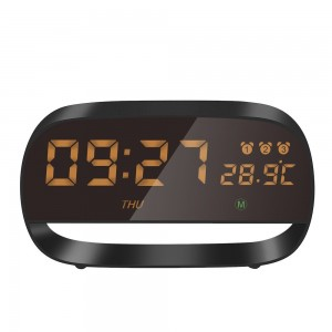 Full Touch LED Digital Alarm Clock with Night Light 3 Alarm Setting Year/Month Date/ Time Display Temperature Measuring
