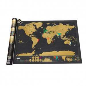 Scratch Map Deluxe Edition Personalised World Map