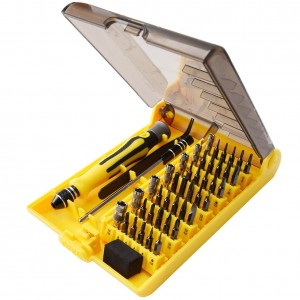 45 in 1 Precision Screwdriver Tool Kit Compact Repair Maintenance Opening Pry Set with Tweezers & Extension Shaft for Cell Phone Laptop Pad etc Disassemble