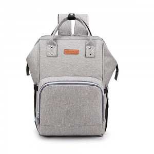 Baby Diaper Backpack Multi-Function Travel Nappy Bag Large Baby Nursing Bag, Fashion Mummy, Roomy Waterproof for Baby Care,Upgrade style with Charging socket for phone and ipad (grey)