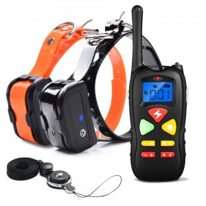 Dog Training Collar Waterproof and Rechargeable 450m Remote Dog Shock Collar with Beep, Vibration and Shock Electronic Collar for 2 Dogs
