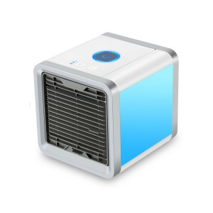 Personal Space Air Cooler, 3 in 1 USB Mini Portable Air Conditioner, Humidifier, Purifier Desktop Cooling Fan
