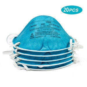 20 PCS  1860 Medical Mask N95, Expire in 2024, International Shipping Eligible Health Care Particulate Respirator and Surgical Mask 1860, N95 120 EA/Case