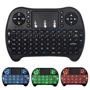 Backlit Mini Wireless Keyboard With Touchpad Mouse Combo and Multimedia Keys for Android TV Box HTPC PS3 XBOX360 Smart Phone Tablet Mac Linux Windows OS,New Model Mini Keyboard Touchpad Mouse