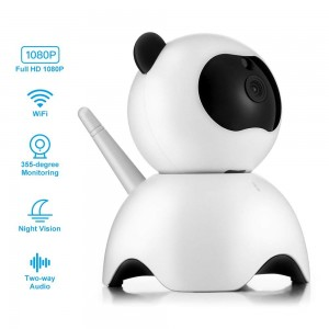 1.0MP 720P HD Smart Panda Wi-Fi Network IP Security Camera/Pet Baby Monitor, Home Security Camera Motion Detection Indoor Camera/Two-way Audio, Night Vision Camera