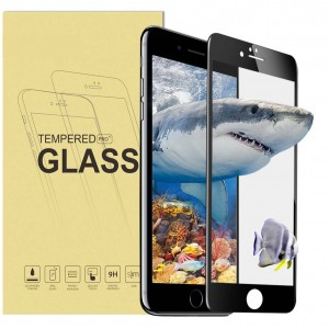 3D Full iPhone 7 Plus Screen Protector, Tempered Glass Screen Protector for iPhone 7 Plus - 9H Hardness High Definition Bubble Free Anti-Scratch