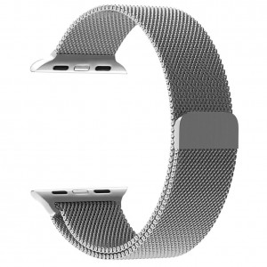 38mm Stainless Steel Smart Watch Band with Magnetic Clasp for Smart Watch Sports Edition - Silver