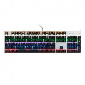 Mechanical Keyboard with Blue Switches, RGB Backlit 104-Key Gaming Keyboard with Preset and Customizable Lighting Effects for PC & Mac Gamers
