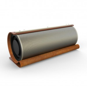 New design high-end leather Bluetooth speaker, portable wireless speaker with super bass sound
