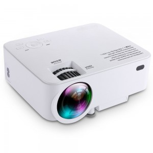 T20 1500 Lumens LCD Mini Projector, Multimedia Home Theater Video Projector Support 1080P HDMI USB SD Card VGA AV for Home Cinema TV Laptop Game iPhone Andriod Smartphone with Free HDMI Cable