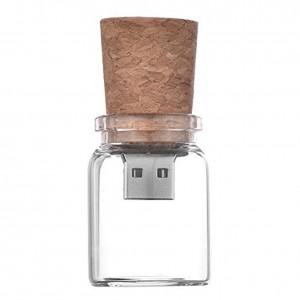 8GB Glass Water Bottle USB Flash Drive