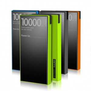 The Ultra-thin power bank 10000 mAH Dual output