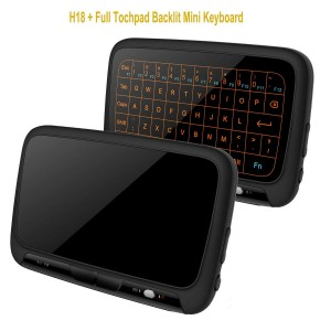 2.4Ghz H18+ Backlit Mini Wireless Keyboard,Full Screen No alphabet Mouse Touchpad Combo,Rechargeable Remote Control for PC,Android Tv Box,HTPC.IPTV,PS3,Pad, (H18+)