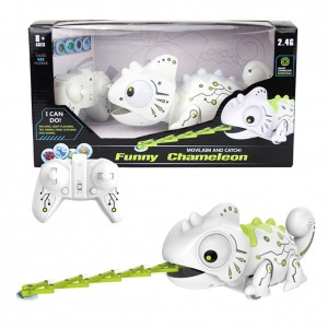 Smart Chameleon Robotic Toys, RC Robot Hungry Chameleon Intelligent Electronic Pet Toy with Remote Control Can Eat Things Function Funny Toy Gift for Boys Girls