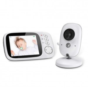 Baby Monitor Wireless 3.2 inch Video Camera with Night Vision Two-Way Talk Support Voice Activation Temperature Monitoring Built in Lullabies with AU Plug