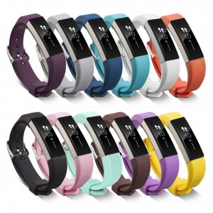 Newest Fitbit Alta HR and Alta Band With Metal Clasp,Silicone Replacement Band for Fitbit Alta HR and Alta (Classic)