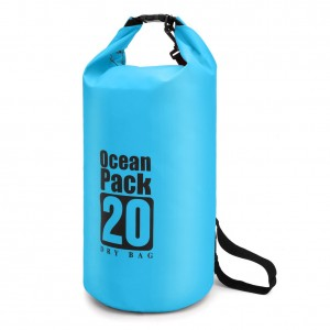 Waterproof Dry Bag 20L, Dry Sack with Detachable and Adjustable Shoulder Strap, Perfect for Boating/ Kayaking/ Fishing/ Beach/ Swimming/ Camping/ Floating/ Rafting/Canoeing /Snowboarding